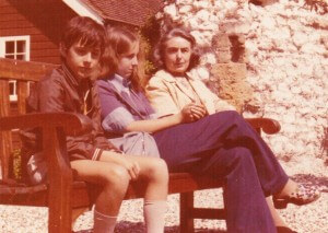 Chris, Joanna, and Mum.
