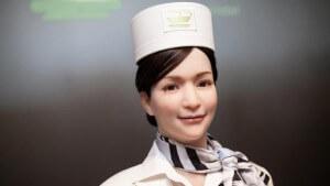 Robot receptionist at Nagasaki's Henn-na Hotel