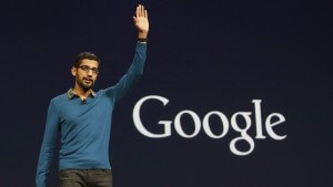 Google's Sundar Pichai: the company plans to name and shame suppliers that don't support encrypted email.