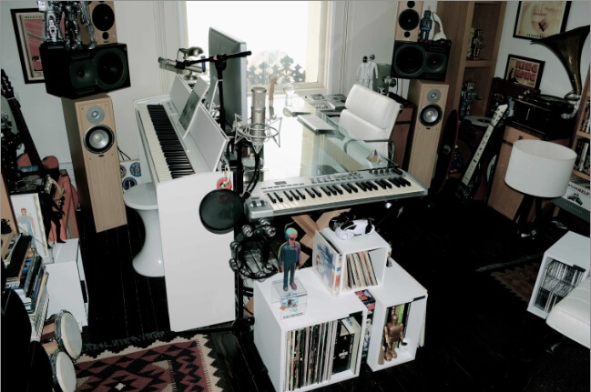 Collections in the studio