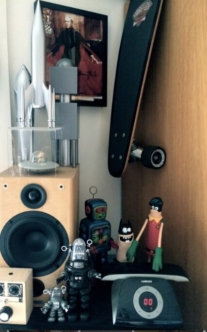 A corner of the studio