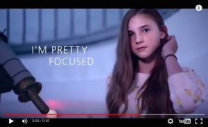 EDF's 'Pretty Curious' campaign. (Why isn't she looking through the telescope?)