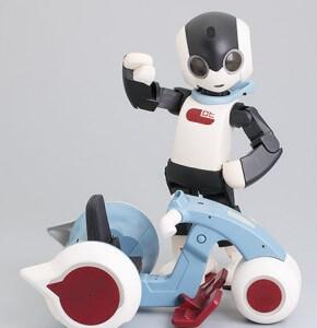 Robi humanoid, with 'Robikuru' vehicle.